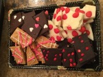 Valentine's treats- chocolate bark!