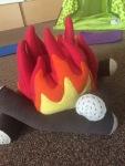 Inside campfire!