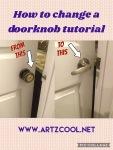 How to change adoorknob