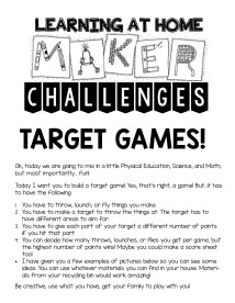 target game challenges at home1
